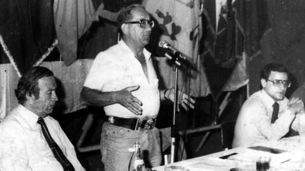 Addressing the MLP conference in 1980.