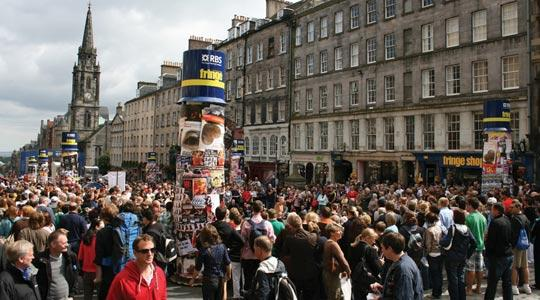 The Edinburgh Fringe festival attracts tens of thousands of people.