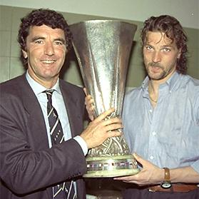 Stefano Tacconi with Dino Zoff.