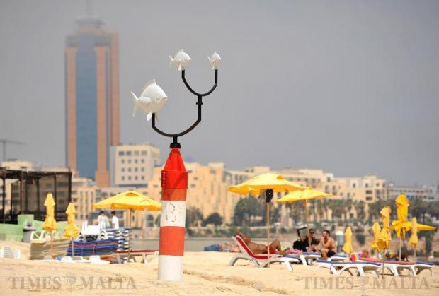 A wind vane at Exiles in Sliema points to the South East on July 2. Photo: Chris Sant Fournier