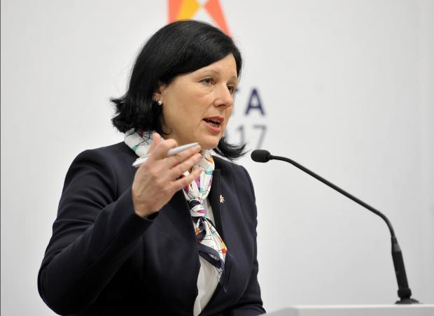 European Commissioner Věra Jourová. Photo: Chris Sant Fournier