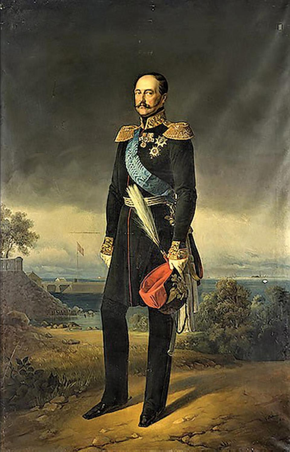 The Czar of Russia, Emperor Nicholas I in a painting by Egor Botman.