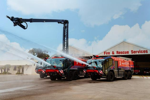 Malta Airport adds two high-tech fire trucks to its fleet