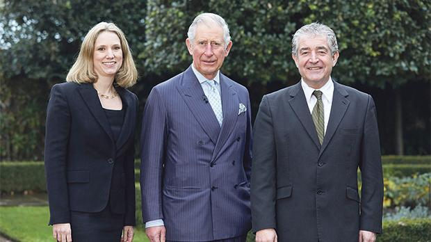 The Prince of Wales (centre) with Emily Shuckburgh and Tony Juniper, who have co-authored a Ladybird book on climate change. Photos: Penguin/PA Wire