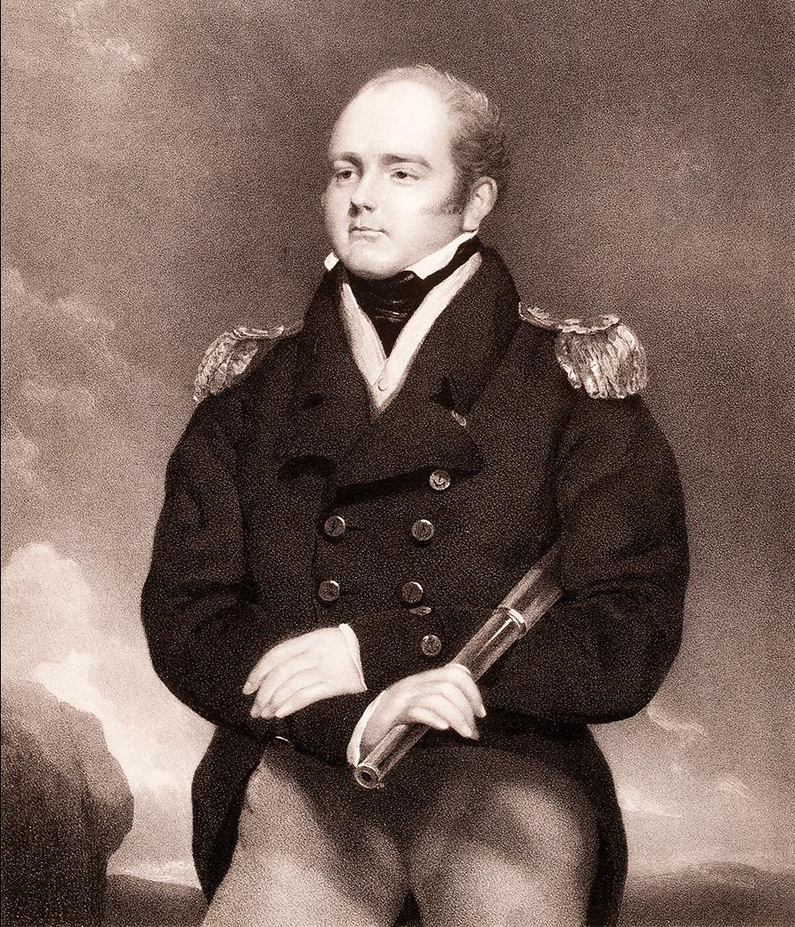 Lithographic portrait of Sir Robert Cavendish Spencer, by Maxim Gauci. Photo:Author's collection