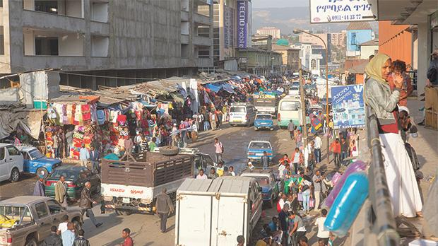 The largest African market in Ethiopia, Addis Ababa.