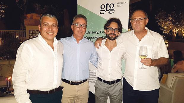 From left: Partners Reuben Portanier, Ivan Gatt, Ian Gauci and Robert Tufigno.