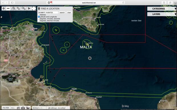 A third vessel needed assistance inside Malta's SAR zone on Wednesday. Photo: Alarm Phone