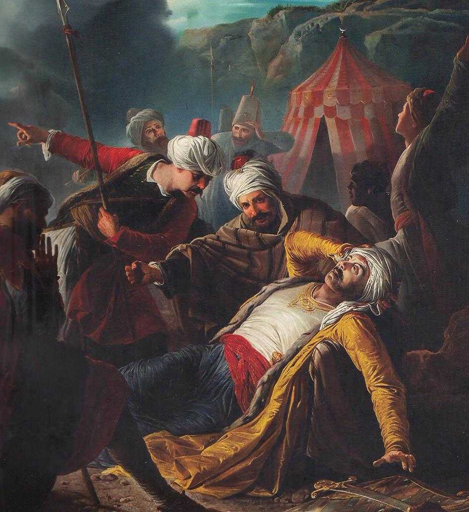 Giuseppe Calì's iconic 19th-century painting The Death of Dragut.