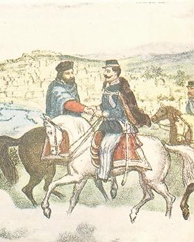 Garibaldi relinquished his conquests to King Vittorio Emmanuele II, of the ruling House of Savoy, who he had met at Teano in 1860.