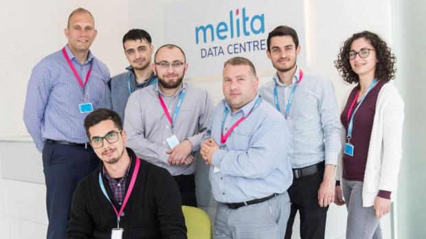 Melita employees who are part of the team which has made 1Gbps nationwide internet a reality.