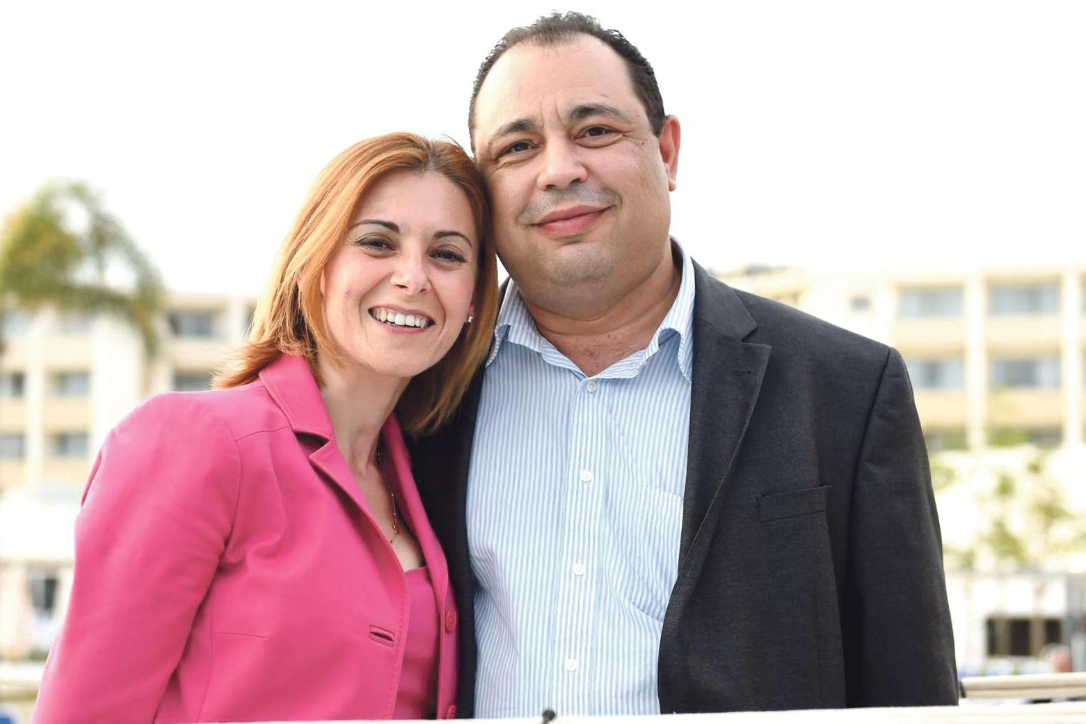 Silvio Valletta with his wife, former Gozo minister Justyne Caruana.