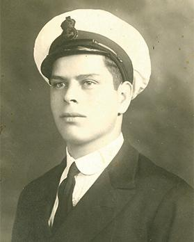 Buhagiar photographed in December 1935 as an assistant steward.