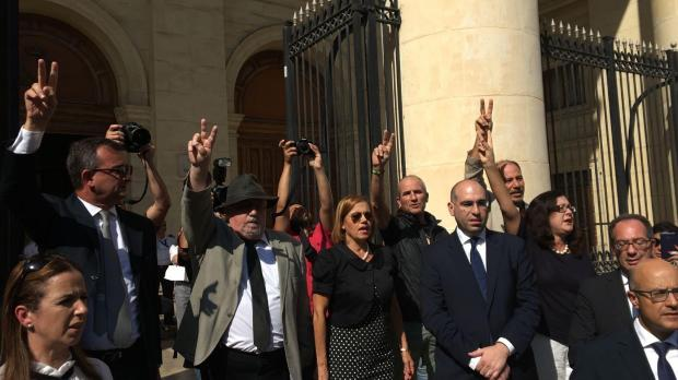 Watch: People gather for Valletta protest
