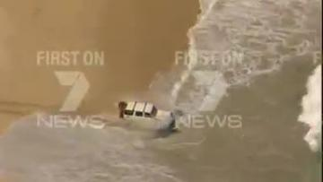 Australia car chase ends in the sea