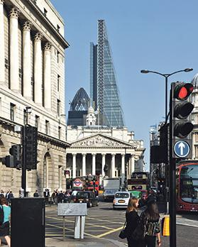 Leadenhall Tower – a triangular profile to suit planning constraints near St Paul's Cathedral.