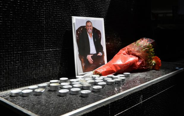 Flowers in tribute to Hugo Chetcuti outside one of his Paceville establishments.