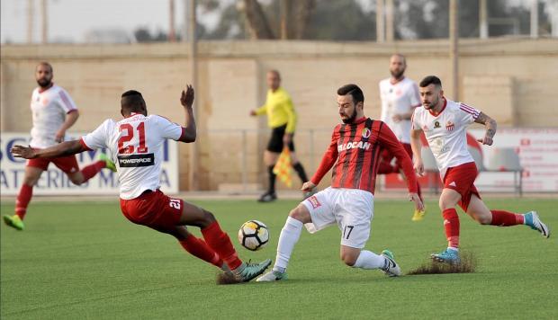 Ħamrun Spartans could not go beyond a draw against Lija Athletic. Photo: Chris Sant Fournier