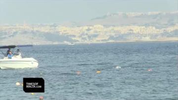 Swimmers race across the Malta-Gozo channel