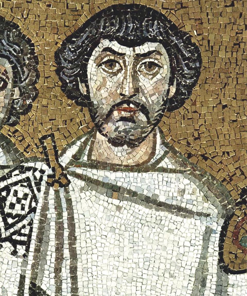 Belisarius, Emperor Justinian's most successful general. (From a mosaic in Ravenna, Italy)