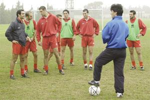 Carmel Busuttil (right) vividly remembers Malta`s encounters with Hungary in the World Cup 1990 qualifying stage. The former Genk striker scored Malta`s goals in the 2-2 draw at Ta` Qali and was again on target in the 1-1 stalemate in Budapest. Picture shows Busuttil, now acting as assistant to national coach Horst Heese, during a training session at Ta` Qali.