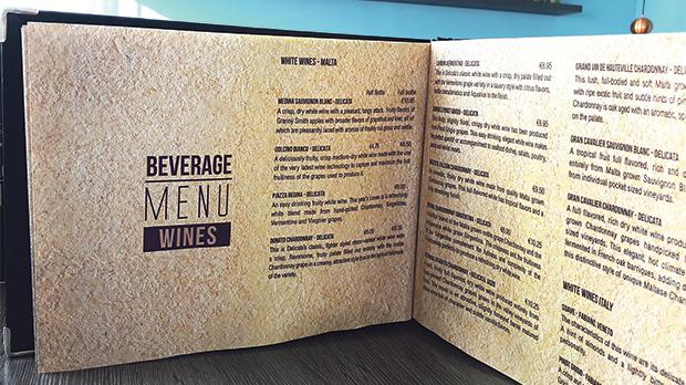 Wine lists should be designed with the customer in mind.