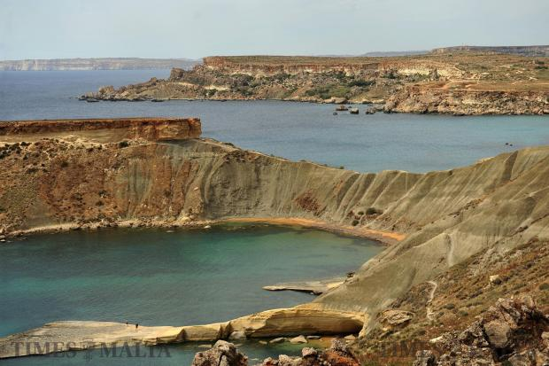 Gnejna bay and Ghajn Tuffieha bay on May 10. Photo: Chris Sant Fournier