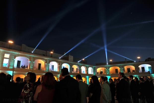 Guests attend the inauguration of the completion of a €15.5 million restoration of the upper part of Fort St Elmo in Valletta on May 8. The facility will host the Malta Military Museum. Photo: Jason Borg