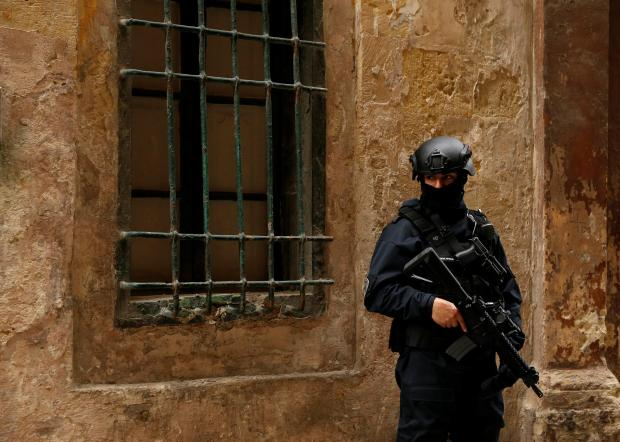 The case is taking place amid tight security. Photo: Reuters