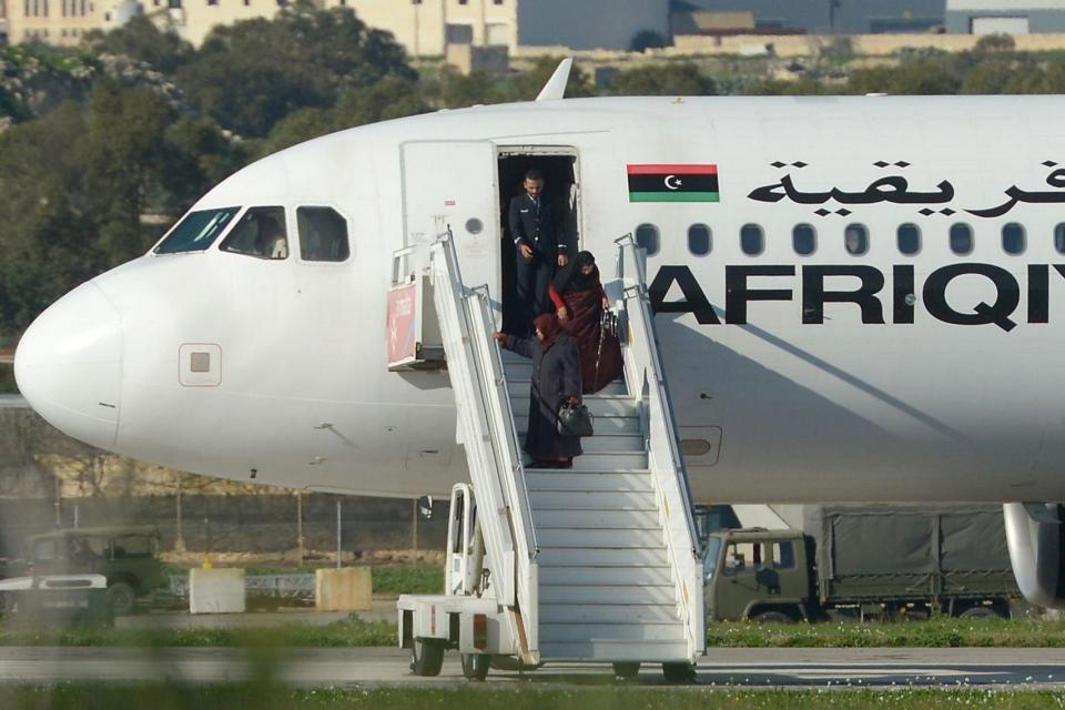 An Afriqiyah Airways Airbus A320 aircraft was hijacked over Libya and diverted to Malta two days before Christmas 2016. File Photo.