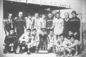 Floriana FC, first winners of the Sons of Malta Cup in 1968 after beating Hibs 3-2 in the final.