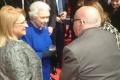 Queen meets friends, acquaintances