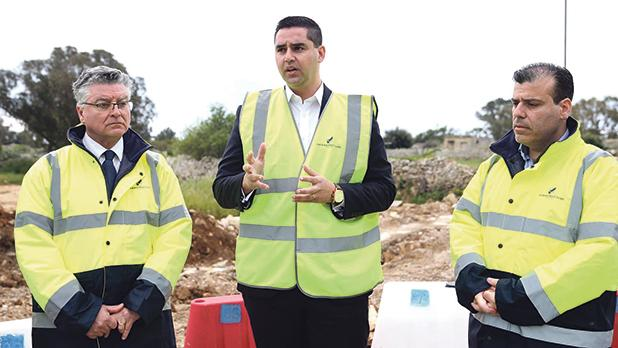 Infrastructure Malta CEO Fredrick Azzopardi (right) insisted that he took the decision to do the first phase of the works without a planning permit due to urgent circumstances. Photo: DOI