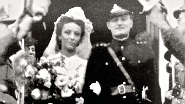Dr Tabone with his wife Maria on their wedding day.