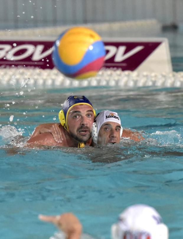 Neptunes' Nicky Lanzon (right) and Boris Vapenski of St Julian's go head-to-head in attempt to get the ball during the final match of the waterpolo league at Tal-Qroqq National Pool on August 29. Photo: Mark Zammit Cordina