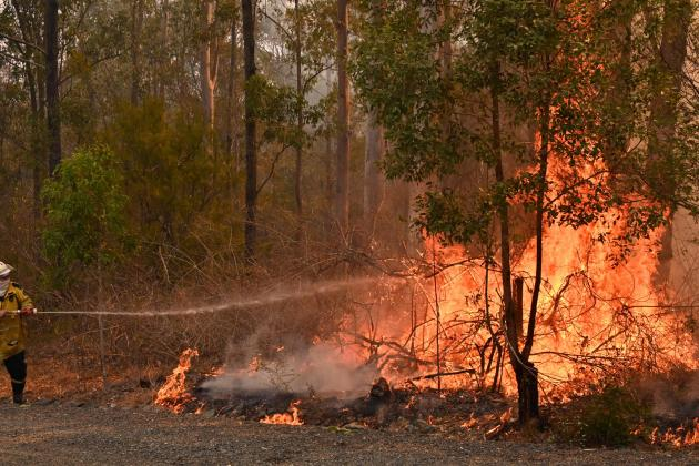 Australian bushfires leave two dead, hundreds homeless