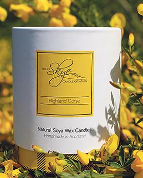 Highland Gorse soya wax candle.