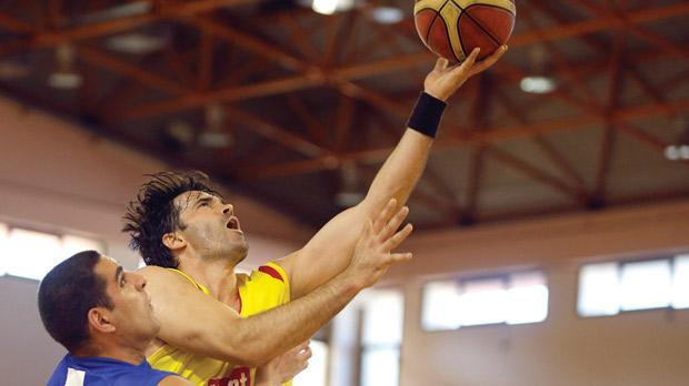 Siġġiewi's Marco Matijevic attempts a basket during the win over Loyola. Photo: Darrin Zammit Lupi