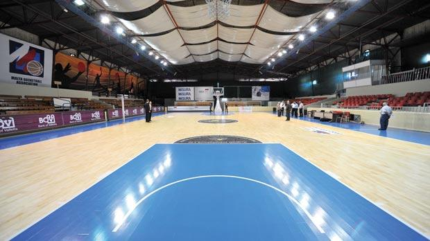 The newly-refurbished Ta' Qali Pavilion court where the major part of competitions are played.