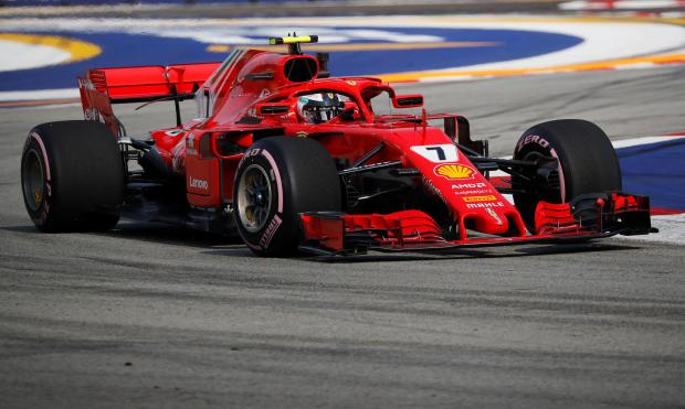Ferrari's Kimi Raikkonen during practice.