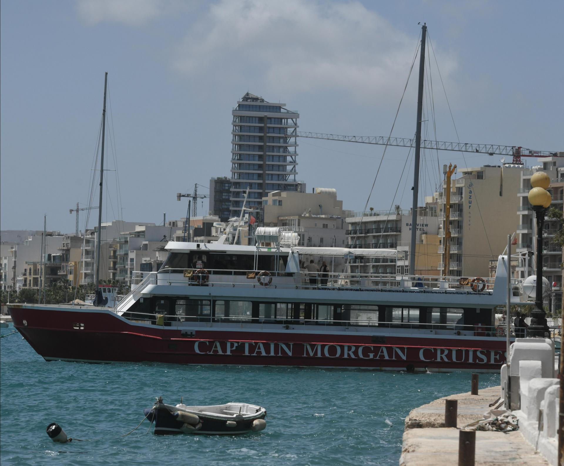 The Bahari was one of the Captain Morgan tourist boats used to house migrants offshore when ports were closed. Photo: Matthew Mirabelli
