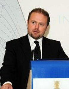 Dr Joseph Muscat speaking this morning.