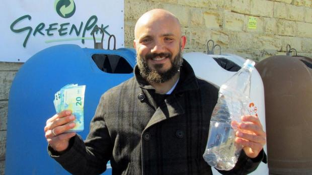 GreenPak wants people to crush their plastic bottles before dumping them.
