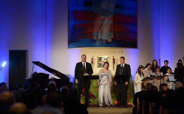 Joseph Calleja sings at a well-attended charity concert at San Pawl tat-Targa's Divine Mercy Chapel on December 27, to raise funds for the BOV Joseph Calleja Foundation. The tenor was accompanied by artists benefiting from the foundation's support for young, gifted performers and underprivileged children. Photo: Matthew Mirabelli