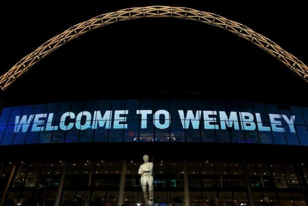Wembley Stadium.