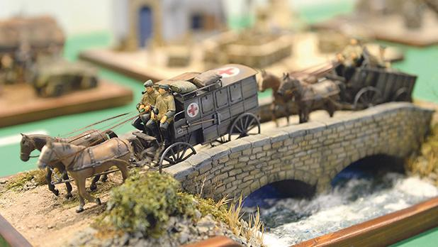 Most of the models on display at the Catholic Institute are made out of recycled material. Photos: Matthew Mirabelli