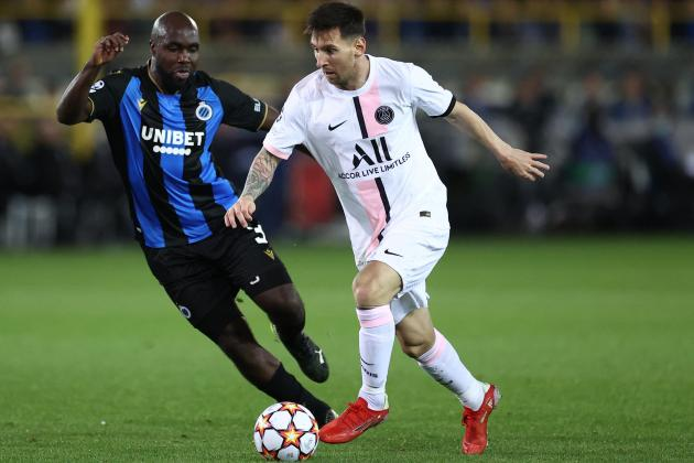 Messi makes first start but PSG held by Club Brugge in Champions League