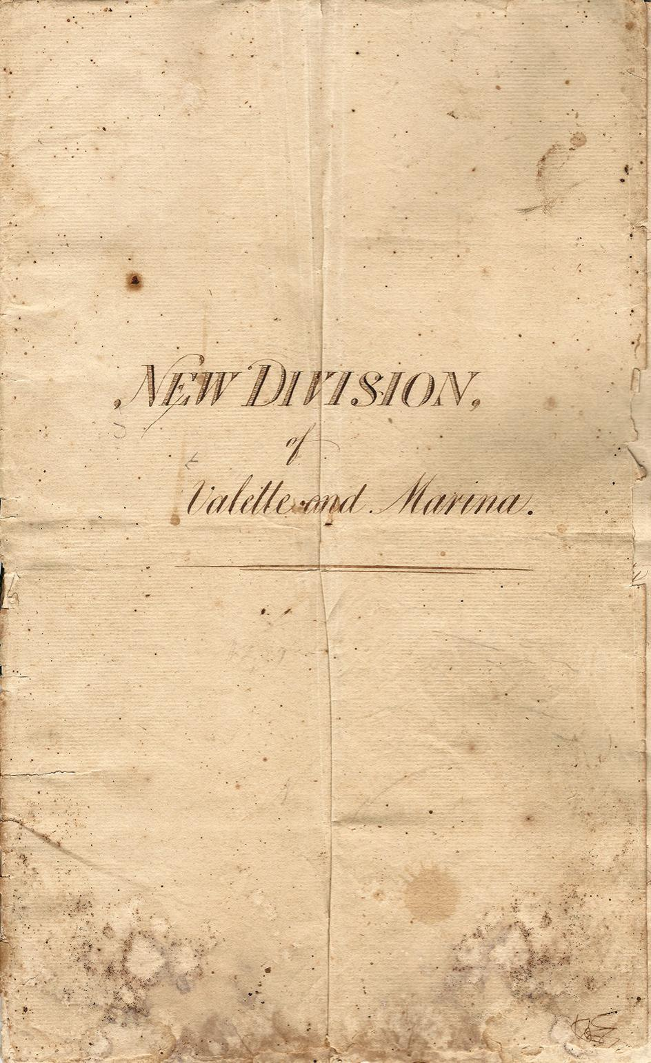The cover page of the 'New Division' document.