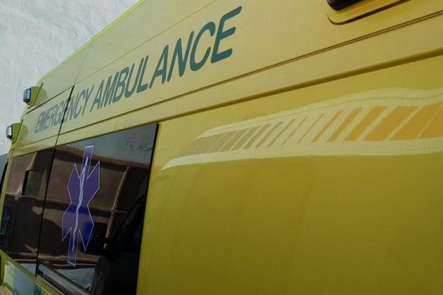 90-year-old ambulance patient injured in traffic accident