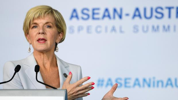 Julie Bishop has not excluded a World Cup boycott. Photo: AFP